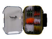 Turrall Fly-Pod Fishing Fly Selection 24 Mini Lures - Black,