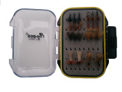 Turrall Fly-Pod Fishing Fly Selection 22 Sedge Flies - Black,