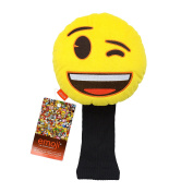 Emoji Unisex Novelty Golf Head Cover - Wink, Yellow