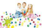 POCO DIVO 400 Pit Balls Crush-proof BPA Free Plastics Ball 5-Colour Kids Play Non-Toxic Wonder Ball with Mesh Bag