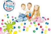 POCO DIVO 100 Pit Balls Magic Funball 5-Colour Crushproof Kids Play Ocean Ball with Mesh Bag