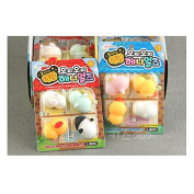 Glow Mochi Animals Jelly Toy Soft Squeeze Squishy Jelly Pudding Toy 4pcs Set