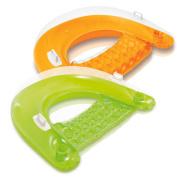 Intex Sit 'N Float Inflatable Lounges Orange & Green Gift Set Bundle - 2 Pack, 150cm X 100cm