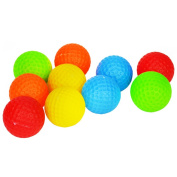 Popular Christmas Gift Sport Toys 5.1cm Kids' Golf Balls Accessories Kits Sets For Kids Toddler, 10 Pack 5 Colours