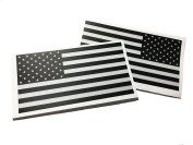 Reversed And Forward SET American Made 3m Reflective US Patriotic Flag Sticker Durable USA Decal 10cm X 6.4cm