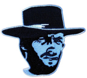 Man With No Name Outlaw Josey Wales Eastwood Patch IRON-ON BLK/WHITE