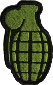 Grenade Patch in OD Green (5.7cm X 6.4cm ) with FREE FREIGHT from San Diego Leather