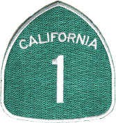 California Route 1 Patch (7.6cm X 7.6cm ) with FREE FREIGHT from San Diego Leather