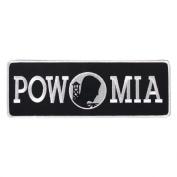 POW MIA Lower Back Patch IRON ON (10.0 X 4.0) Biker Patch