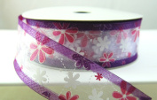 Wired Floral Fun Lavender Spring Ribbon 3.8cm 25 Yards