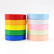 250y/lot,25y/colour Polyester Solid Colour Satin Ribbon
