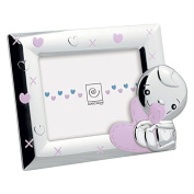 Mascagni Photo Frame 13 x 18 Girl in Polished Metal And Nail Polishes