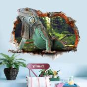 3D Lizard Animal Wall Sticker Decal Home Paper PVC Murals House Wallpaper Bedroom Kids Babys Living Room Art Picture Decoration