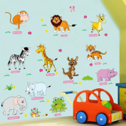 Animals Words Wall Sticker Decal Home Paper PVC Murals House Wallpaper Bedroom Kids Babys Living Room Art Picture Decoration