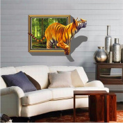 XMJR Tiger Queen size waterproof wall stickers 3D living room TV background cartoon series specification 70*100cm