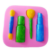 Artistic9(TM) Funy [Makeup Tools Lipstick Cake Shape] 3D Silicone Soap Chocolate Candy Ice Mould Baking Moulds Toys for Kids
