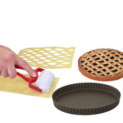 Yoocook Pack Linzer Tart Wheel with Nets Mould Non-Stick 20 cm Steel