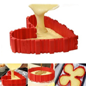 Silicone Cake Moulds,MML Nonstick Tray Flexible Cake Pan Magic Bake Snake DIY Baking Mould Tools More Heavy and Stable