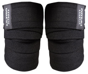 Weight Lifting Knee Wraps.Heavy Duty, Elasticated Knee Support for Squatting, Powerlifting, Olympic Lifting and CrossFit