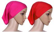 Fortuning's JDS 2pcs Islamic lightweight under scarf tube bonnet cap under scarves inner hijab caps for women