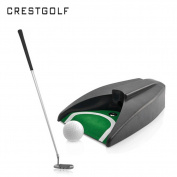 Crestgolf Auto Putt Returner With Guideball With Putter+Ball+Bag+Automatic Kick Back Return Putting Cup Device