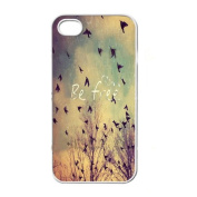 Aobiny Mobile Case Fashion Sky Birds BE FREE Case Cover Skin For Apple iphone 4 4G 4GS Newest