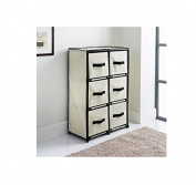 DELUXE 6 DRAWER CANVAS STORAGE UNIT