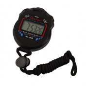 Jooks Digital Professional Handheld LCD Chronograph Water Resistant Sports Stopwatch Timer Stop Watch Clock with Alarm Feature for Swimming Running Football