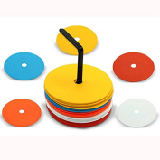 GUGULUZA Field Flat Marker Discs for Soccer Football Basketball Training Aids 10pack