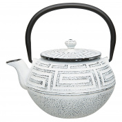 BergHOFF Japanese-Style Cast Iron Infuser Teapot, 650ml, White
