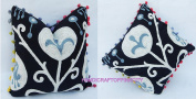 HANDICRAFTODPINKCITY Black and White2 Pcs Lot Vintage Suzani Cushion Cover Embroidered 41cm x 41cm Indian Pillow Case Decorative