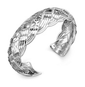 Hosaire 1X Fashion Bracelet Crystal Charm Silver Network Woven Chain For Womens Girls Party Jewellery
