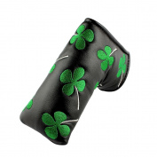 MamimamiH Golf Putter Head cover Shamrock Embroidered Blade for Scotty Cameron Ping TaylorMade Odyssey