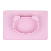 Nooni Care Mini Silicone Placemat Baby Bowl and Suction Plate for Highchair Trays, perfect for Baby Led Weaning and Travel Feeding