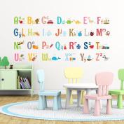 Decowall DA-1701 Alphabet Peel and Stick Nursery Kids Wall Stickers Decals