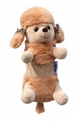 Dog Plush Pen Bag Pouch Zipper Coin Purse Case - Poodle