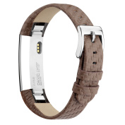 For Fitbit Alta HR Strap Leather Alta Band, Vancle Adjustable Comfortable Replacement Leather Band for Fitbit Alta Fitbit Alta HR Unisex Fitness Wristband