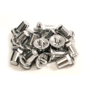 16 x Rugby League Aluminium Screw In Studs 21mm