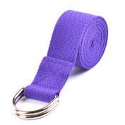 Elemart Yoga Strap - 1.8m Durable Cotton Yoga Strap With Adjustable Metal D-Ring Buckle for Stretching, Flexibility & Physical Therapy - 2PCS
