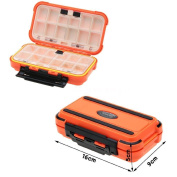 Fishing Lure Bait Tackle Double Layer Box 24 Compartment Case
