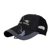 Stebcece Fishing Snapback Hat Cap Black for Fishing Baseball Golf