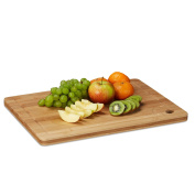 Relaxdays Bamboo Chopping/Carving Board with Juice Groove/Handle Cut-Out, Natural Brown, 2 x 40 x 30 cm