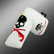 Craftsman Golf King Skull Embroideried Blade Putter Cover For Titleist Scotty Cameron Taylormade Mizuno Callaway