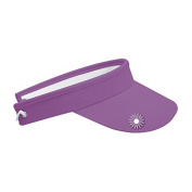 Purple Telephone Wire Golf Visor With Matching Ballmarker