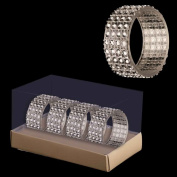 4 Pack Diamante Napkin Rings - Christmas Decorations