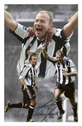 Alan Shearer - Newcastle United Signed Autographed 21cm x 29.7cm A4 Photo Poster