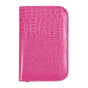 Hot Pink Crocodile Effect Golf Scorecard Holder