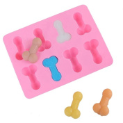 MML 1pc Sex Erotic Peniss Silica Gel Cake fondant Mould Ice Mould Party Food Mould Gadgets 18.6x14.3x1.7cm