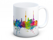 Stuttgart Skyline, German Cityscape - High Quality Coffee Tea Mug