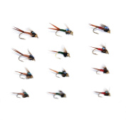 12 Pieces Top Rating Dry/Nymph/Streamer Fly Fishing Flies Trout Fly Assortment